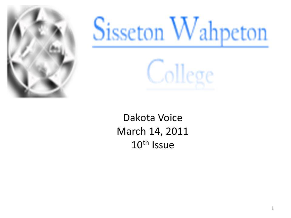 Dakota Voice March 14, 2011 10 th Issue 1