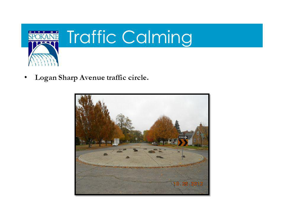 Traffic Calming Logan Sharp Avenue traffic circle.