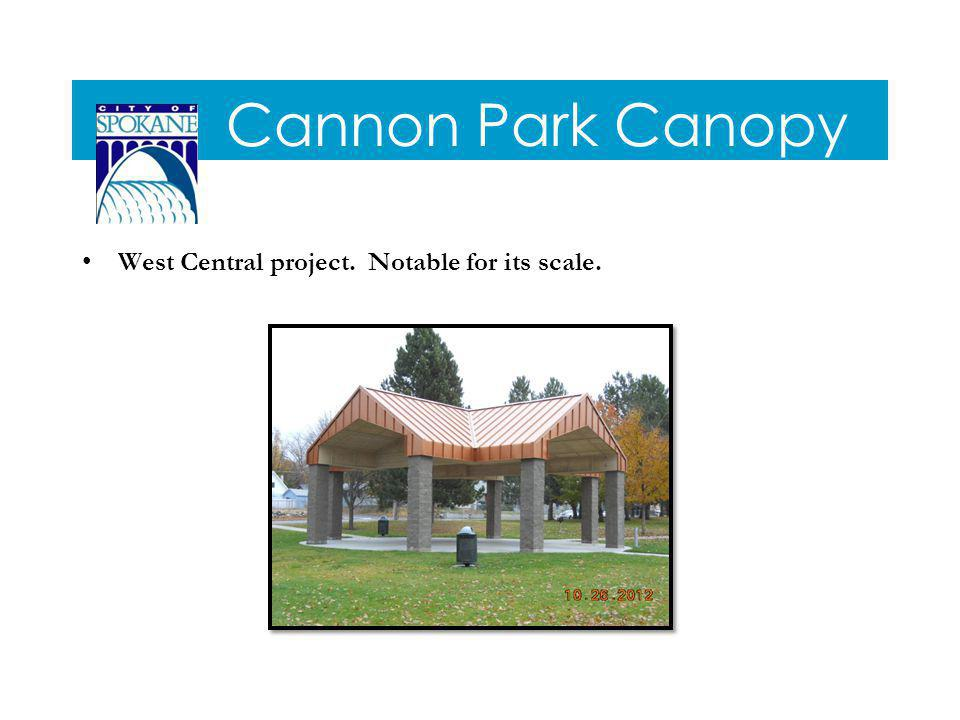 Cannon Park Canopy West Central project. Notable for its scale.