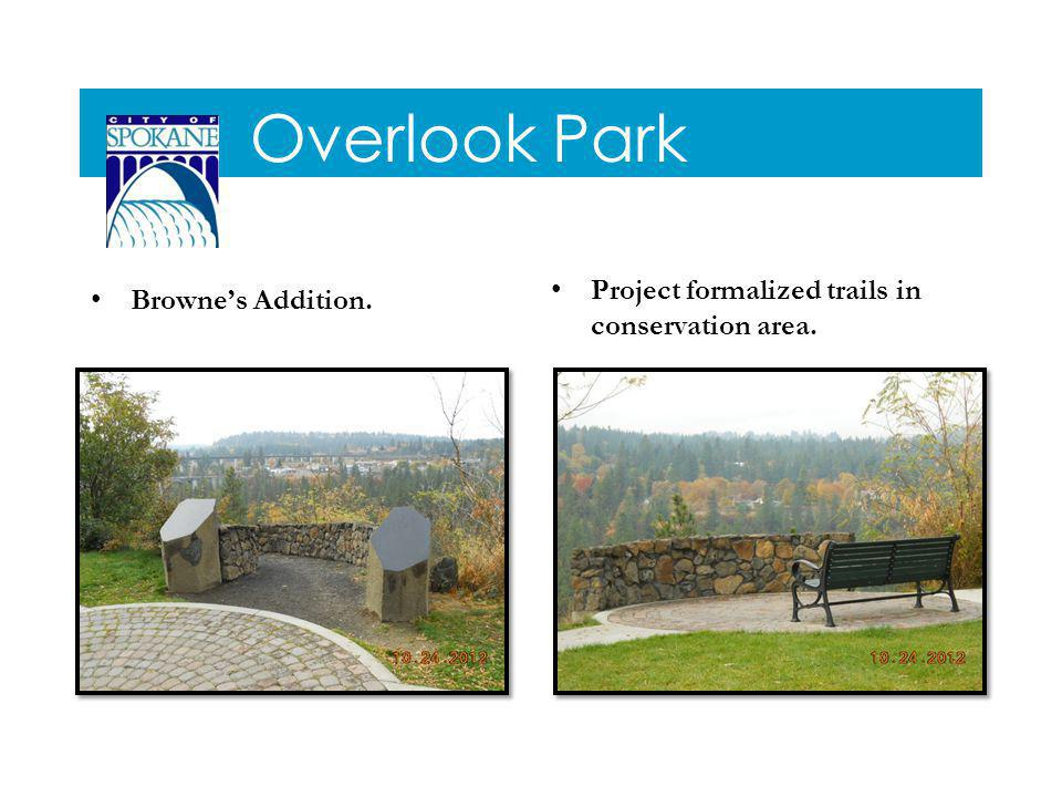 Overlook Park Brownes Addition. Project formalized trails in conservation area.