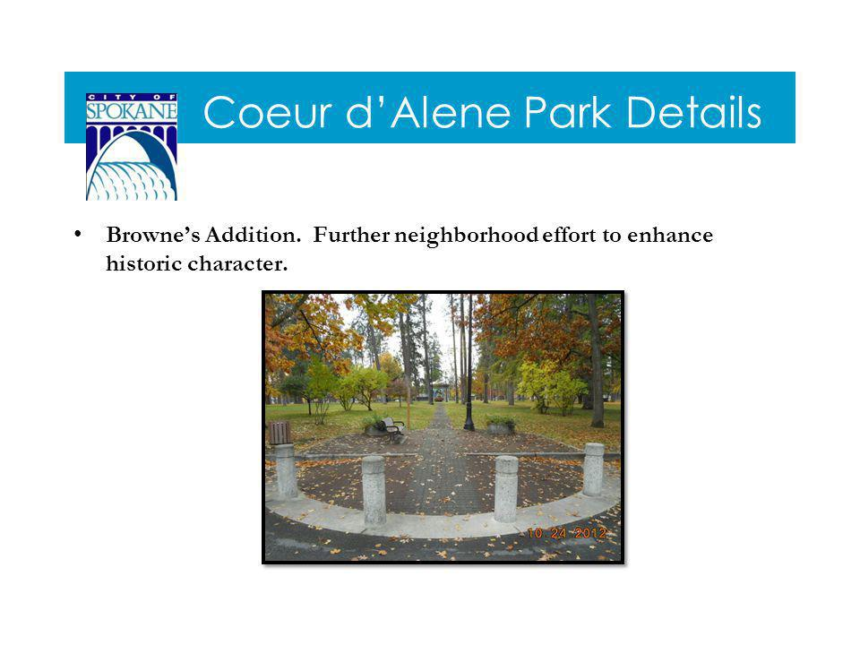 Coeur dAlene Park Details Brownes Addition.