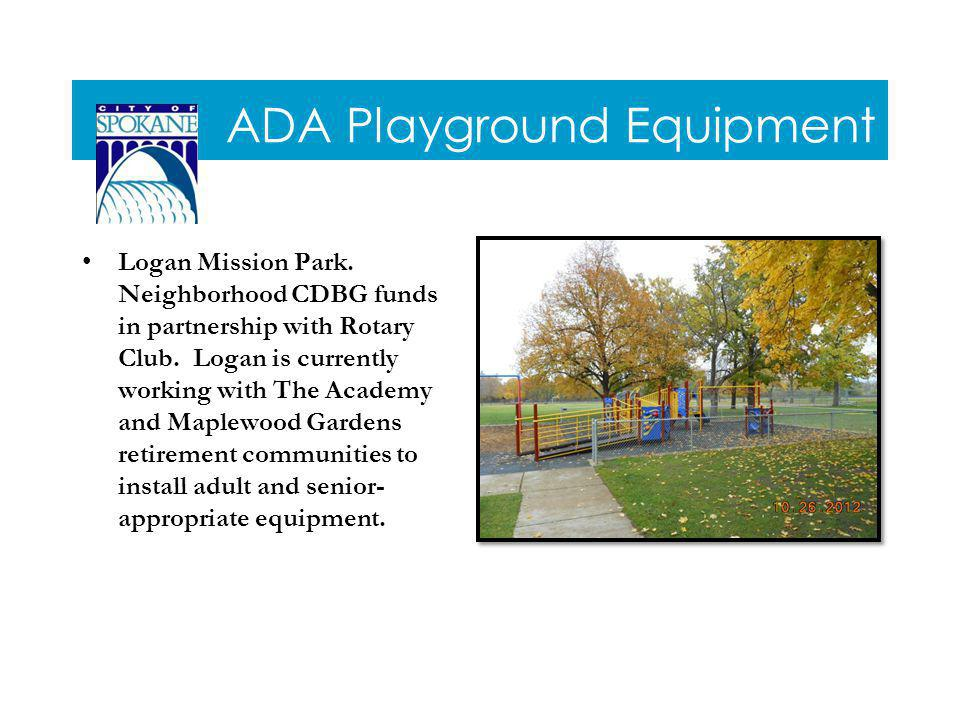 ADA Playground Equipment Logan Mission Park.