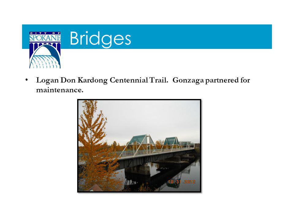 Bridges Logan Don Kardong Centennial Trail. Gonzaga partnered for maintenance.