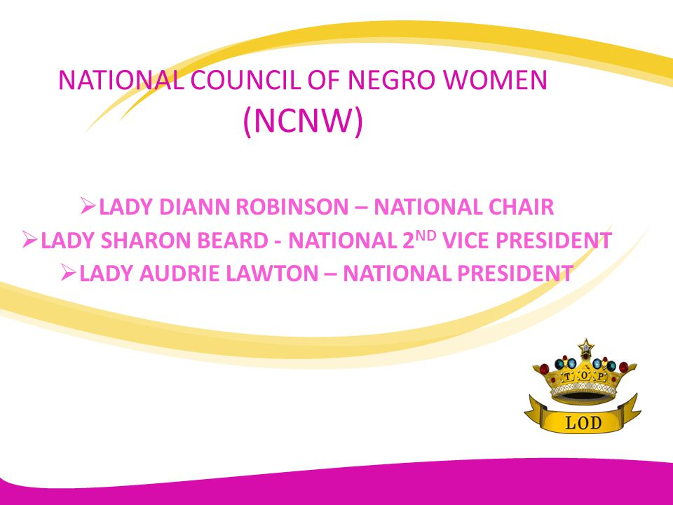 NCNW LIFE MEMBERSHIP AREA V NA AREA VI HUB CITY LADERA HEIGHTS LOS ANGELES STARLIGHT