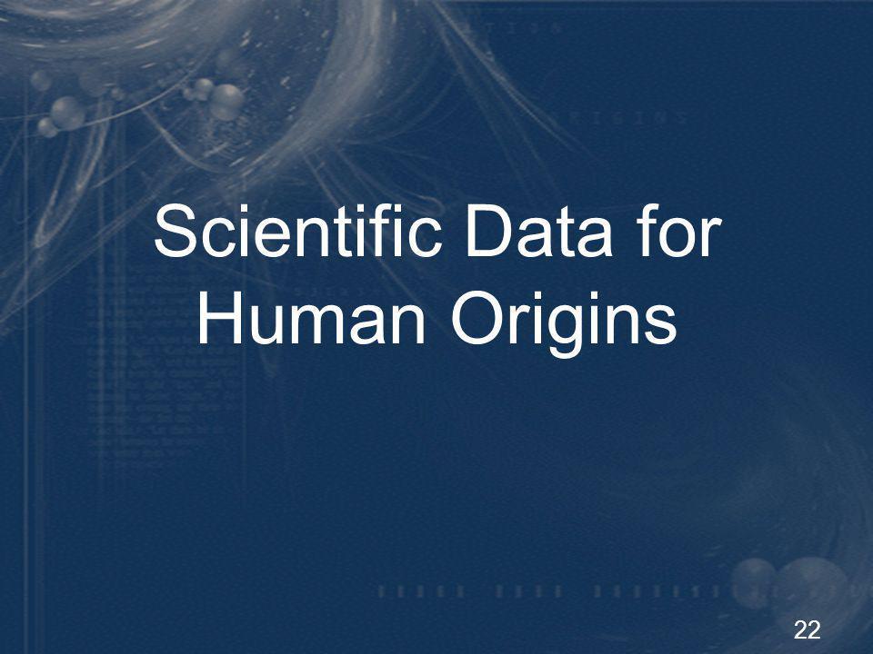 22 Scientific Data for Human Origins