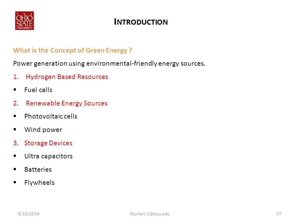 I NTRODUCTION What is the Concept of Green Energy .