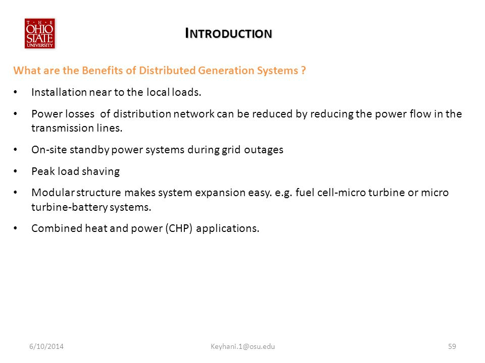 I NTRODUCTION What are the Benefits of Distributed Generation Systems .