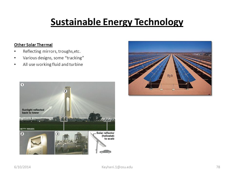 Sustainable Energy Technology Other Solar Thermal Reflecting mirrors, troughs,etc.