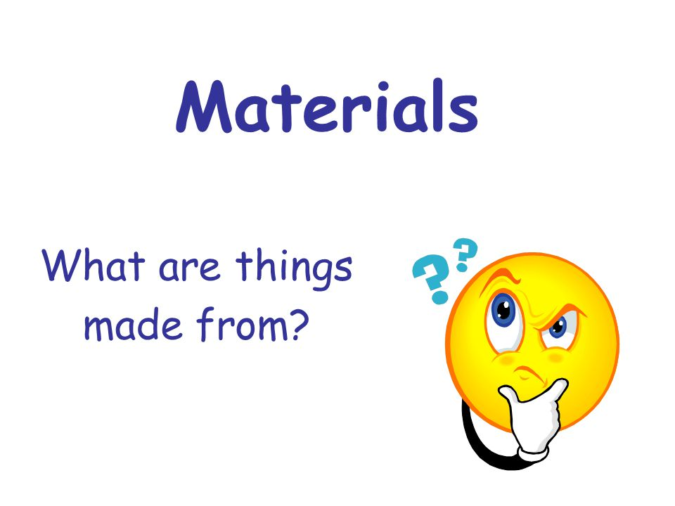 What is natural.These are materials that are found around us.