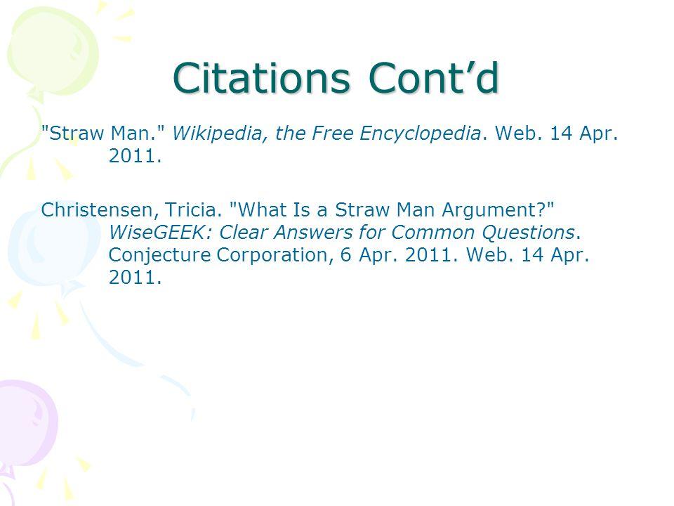 Citations Contd