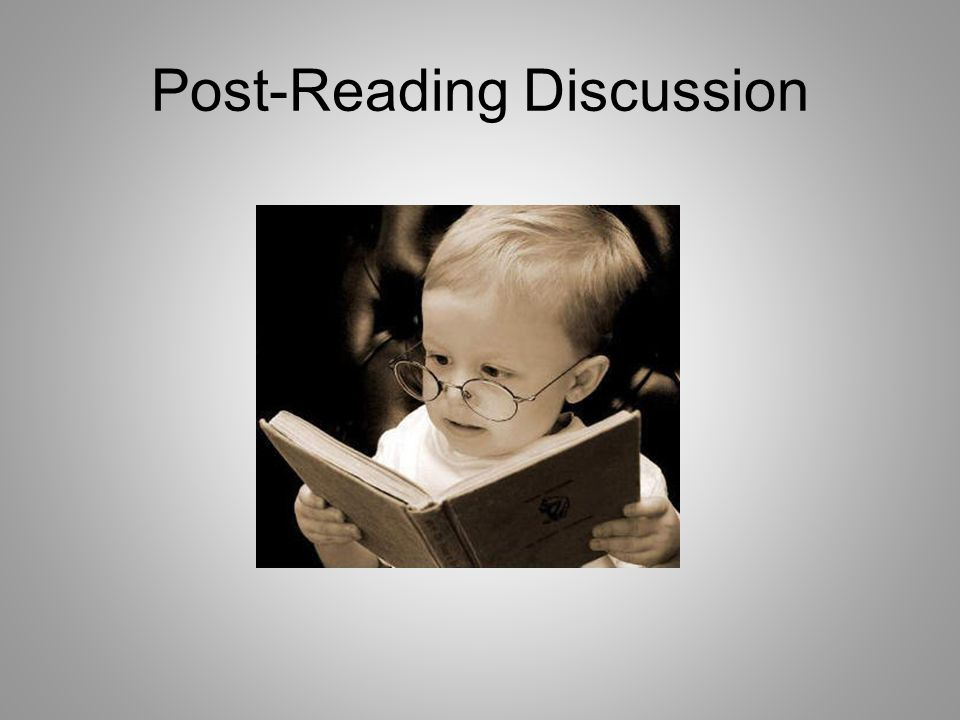 Post-Reading Discussion