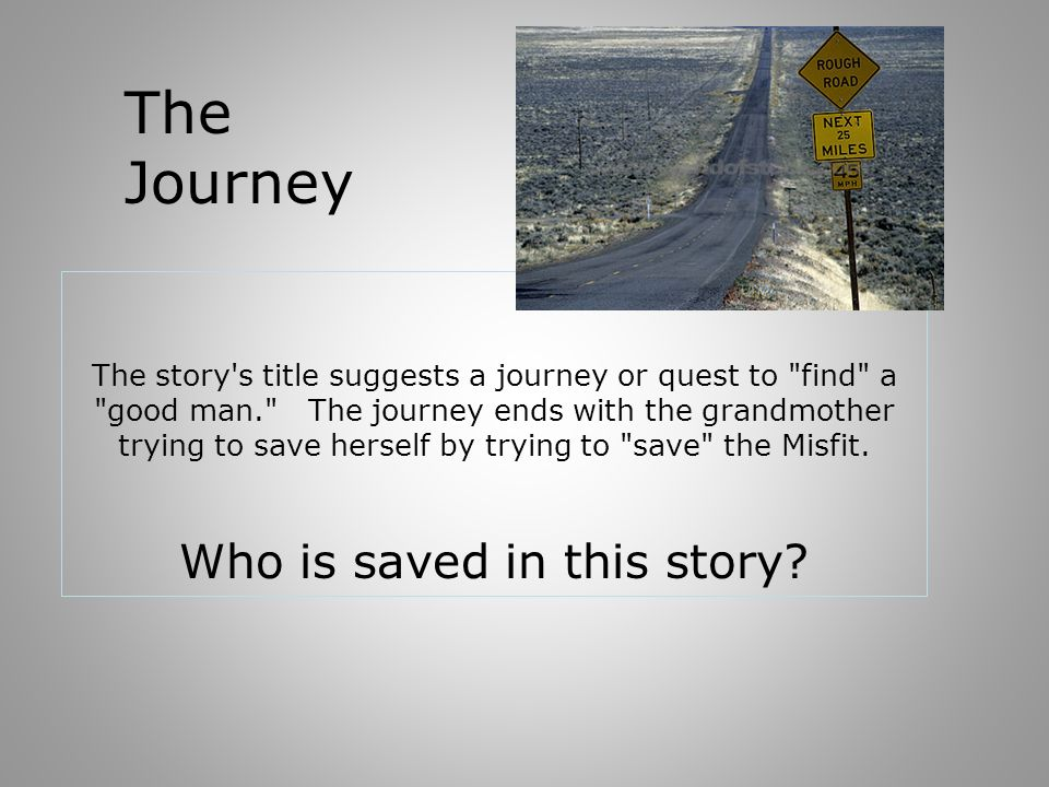 The story's title suggests a journey or quest to