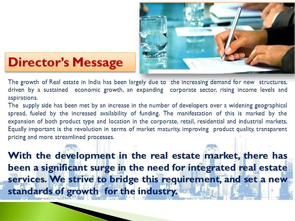 Directors Message