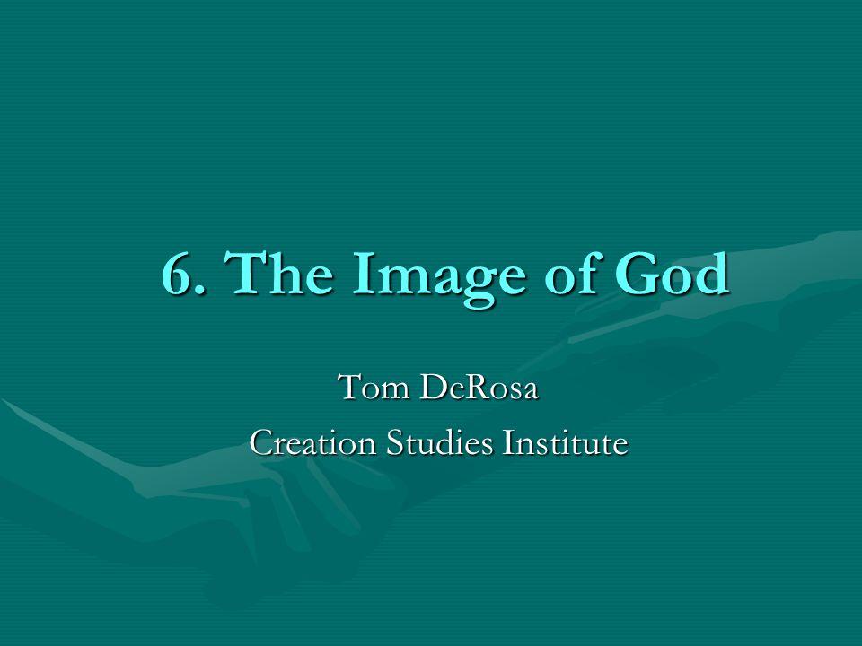 6. The Image of God Tom DeRosa Creation Studies Institute