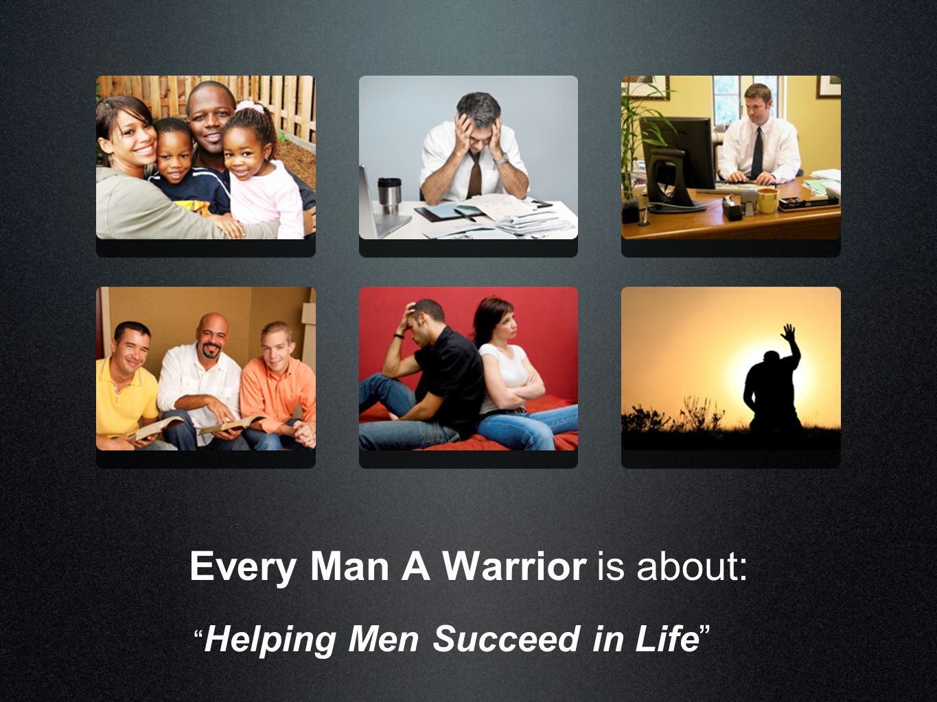 Every Man A Warrior is a 32 week Bible study broken into 3 books of 9-12 weeks each. They are: