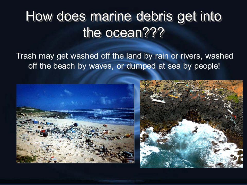 How does marine debris get into the ocean??.