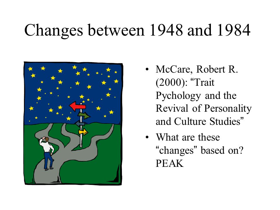 Changes between 1948 and 1984 McCare, Robert R.