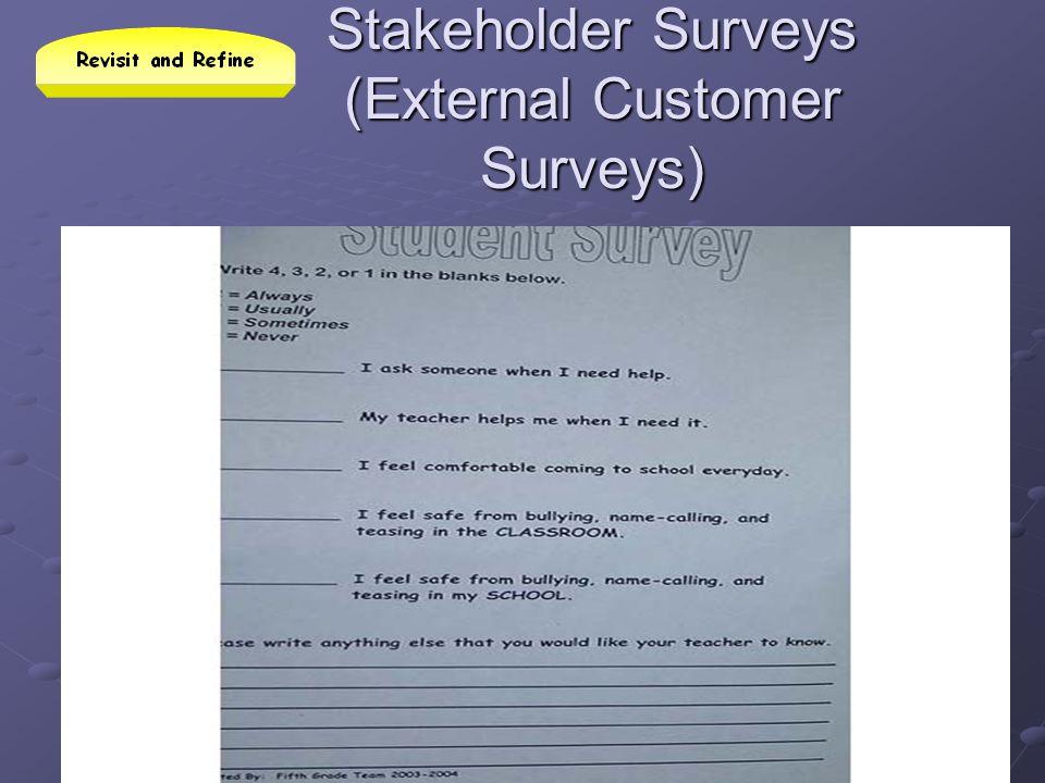 Stakeholder Surveys (External Customer Surveys)