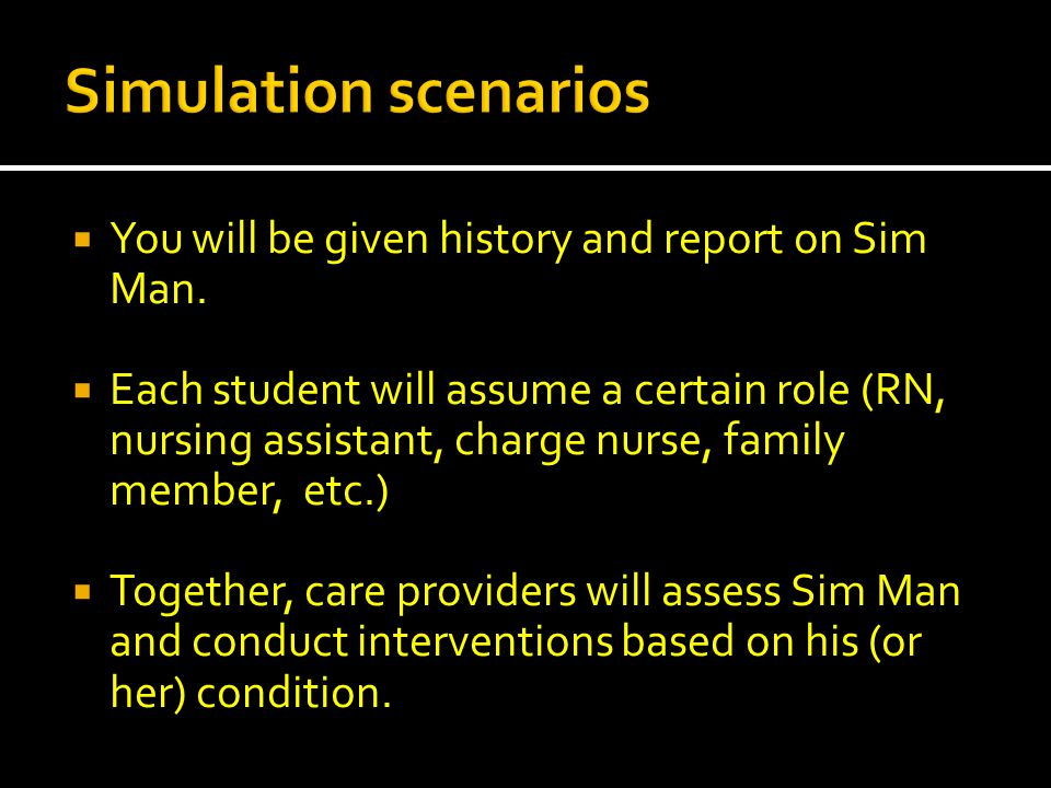 You will be given history and report on Sim Man.