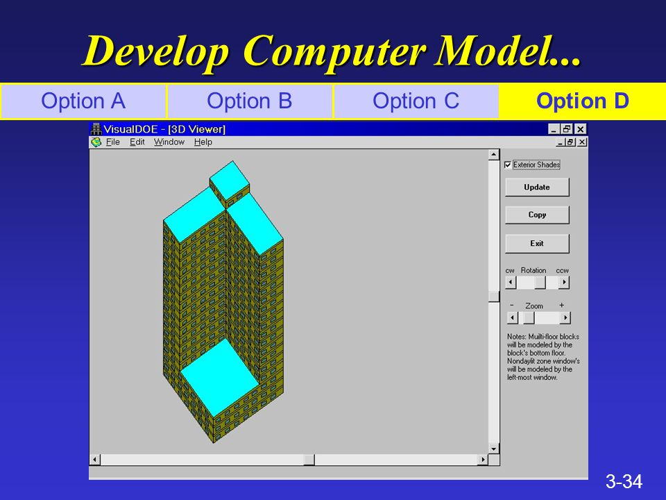 3-34 Develop Computer Model... Option AOption BOption COption D
