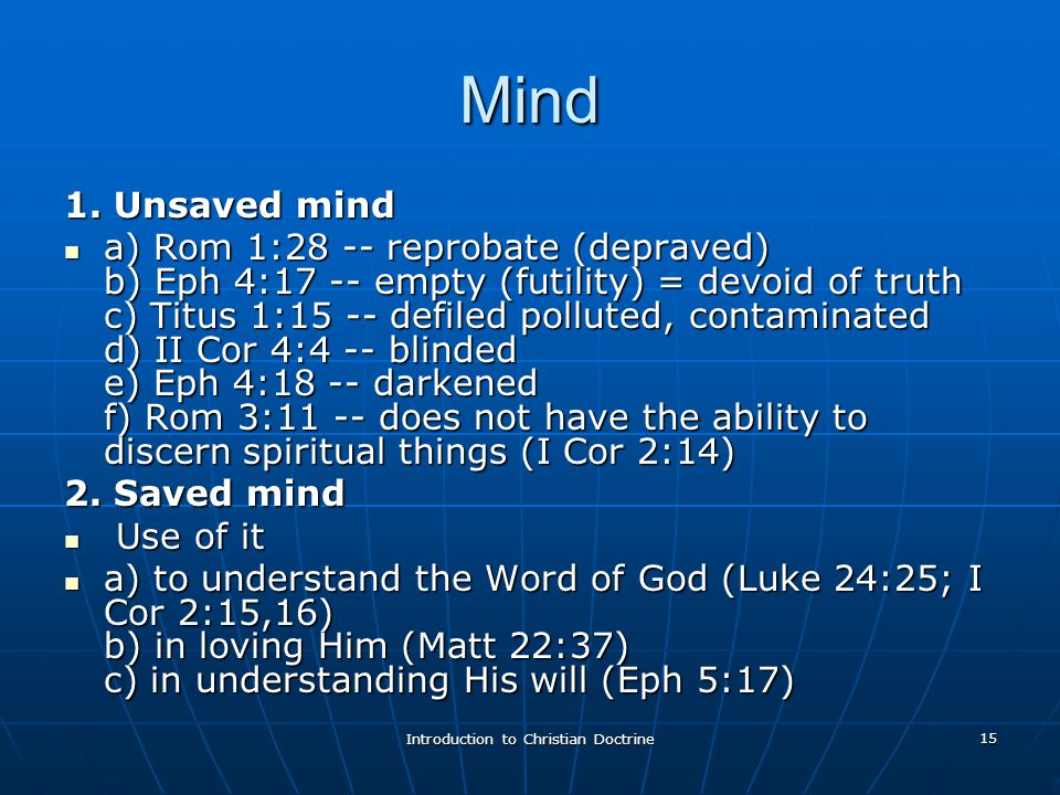 Introduction to Christian Doctrine 15 Mind 1.