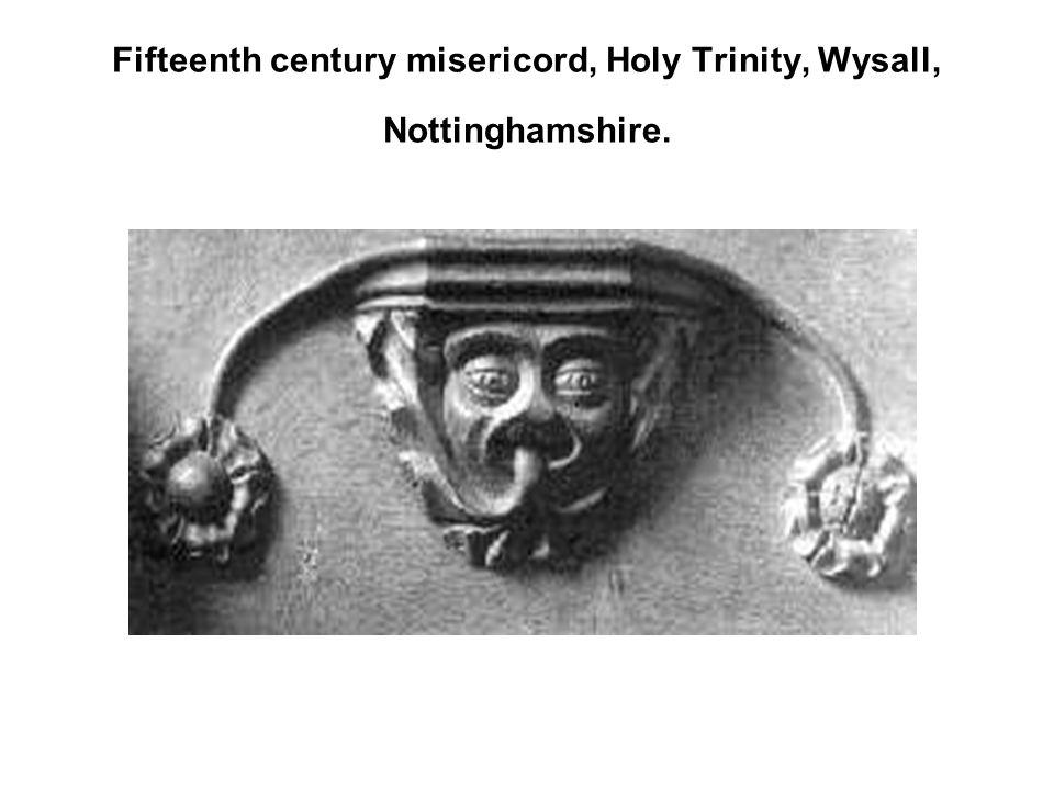 Fifteenth century misericord, Holy Trinity, Wysall, Nottinghamshire.