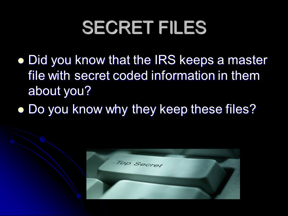 INDIVIDUAL MASTER FILE (IMF) The IMF, when decoded with IRS Manuals can reveal the truth concerning the straw man and how it may apply to you.