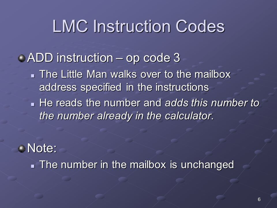 17 A Simple Program INPUT 500 The LM reads the second number into the calculator The LM reads the second number into the calculator ADD399 We do not need to save the 2 nd number in the example, but we could have.