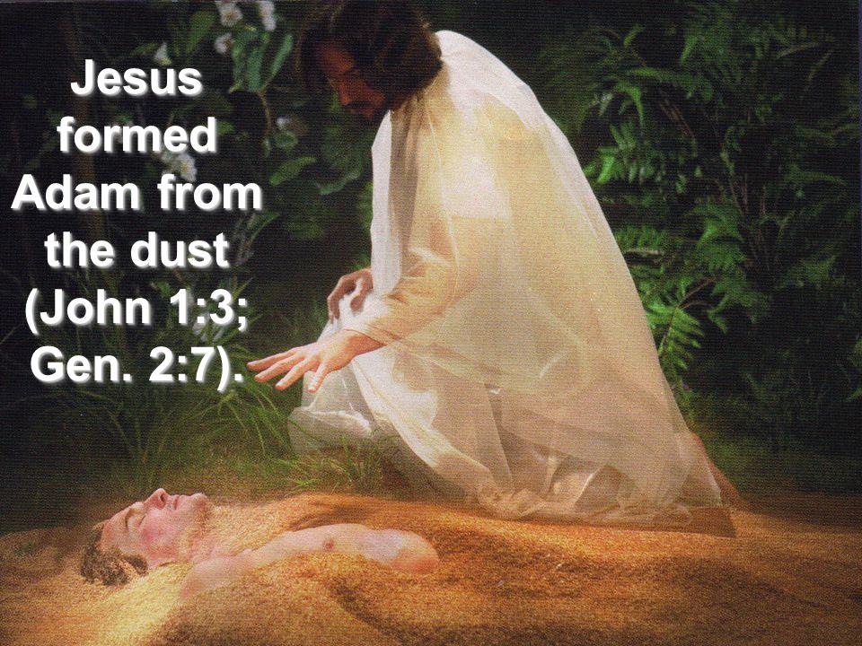 Jesus formed Adam from the dust (John 1:3; Gen. 2:7).