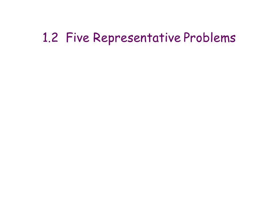 1.2 Five Representative Problems