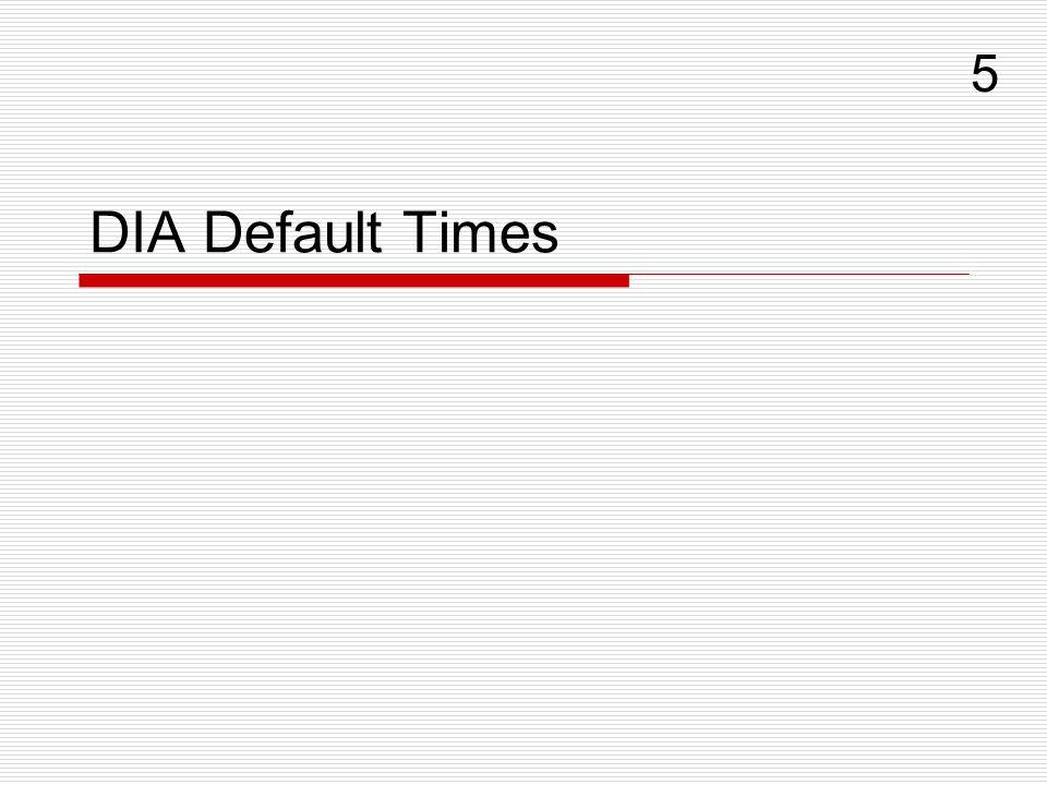 DIA Default Times 5