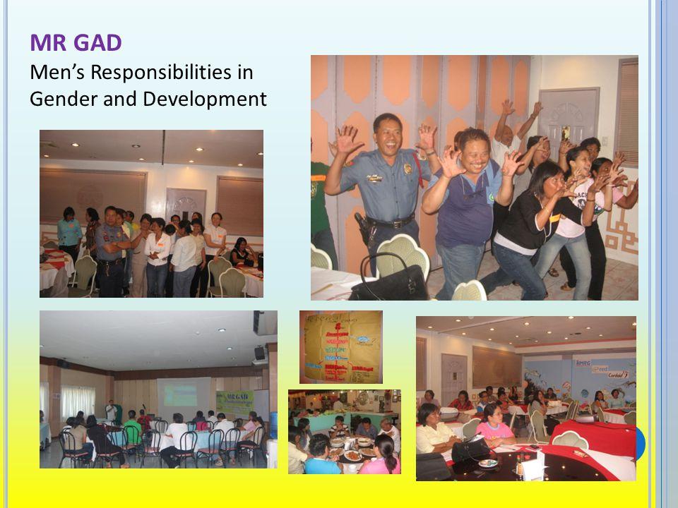 MR GAD Mens Responsibilities in Gender and Development