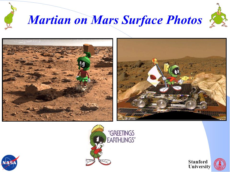 Stanford University Martian on Mars Surface Photos