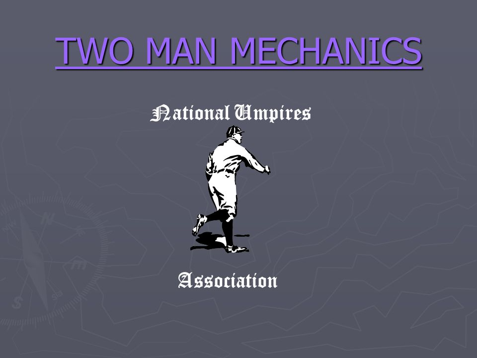 ROTATION SITUATIONS (cont) Situation #4: 1st & 2rd (less than 2 outs) (all levels) BUMPING (man to man coverage) Signal: fist on fist and point to third Signal: fist on fist and point to third When: on outfield fly ball with R2 tagging When: on outfield fly ball with R2 tagging Rotation: UIC comes up to third on fly ball hit to outfield (stay foul, let ball and runner take you into fair territory).