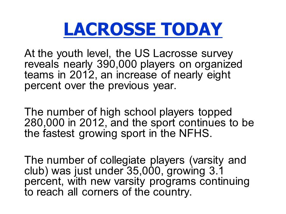2014 NFHS Boys Lacrosse Rules Revisions RuleChange & Commentary 1-2-7, 8, 9 The size of the scorers table area is increased.