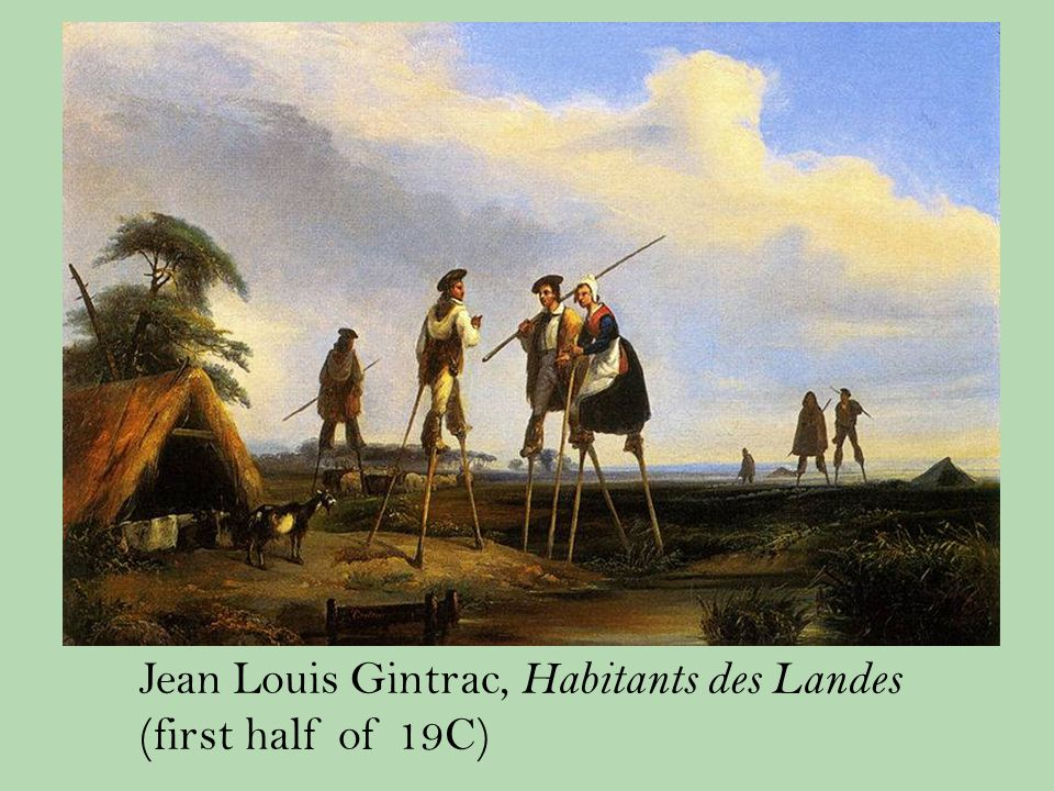 Jean Louis Gintrac, Habitants des Landes (first half of 19C)