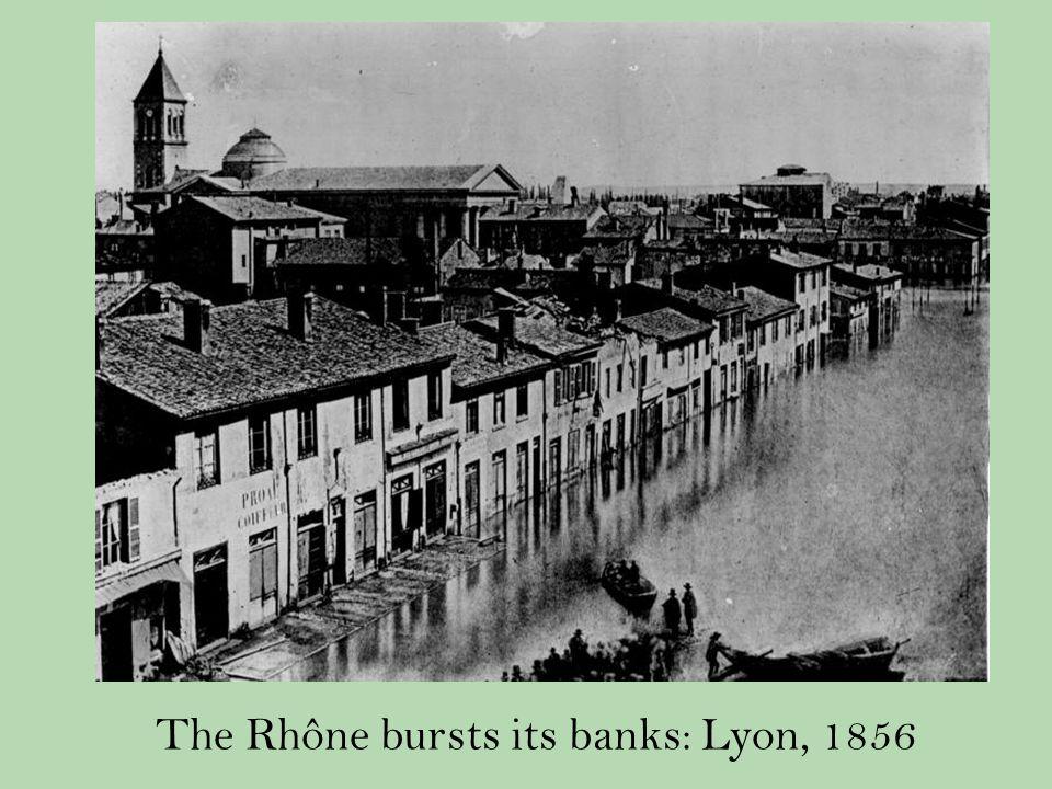 The Rhône bursts its banks: Lyon, 1856
