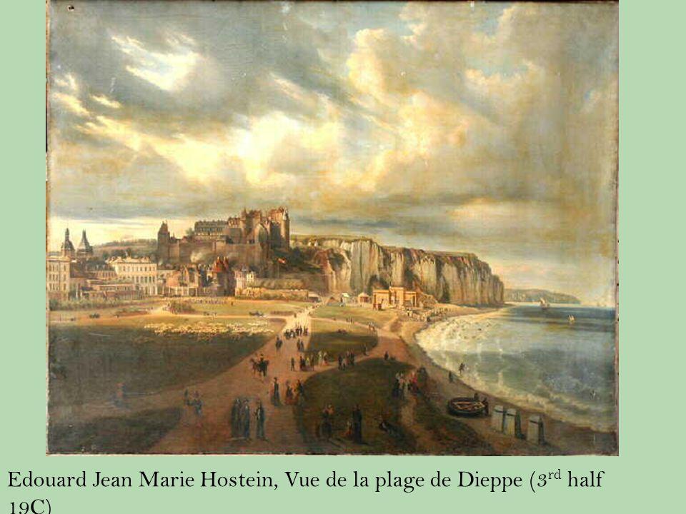 Edouard Jean Marie Hostein, Vue de la plage de Dieppe (3 rd half 19C)
