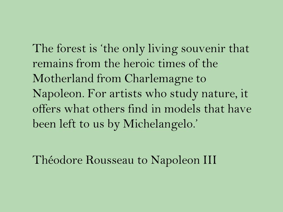 The forest is the only living souvenir that remains from the heroic times of the Motherland from Charlemagne to Napoleon.