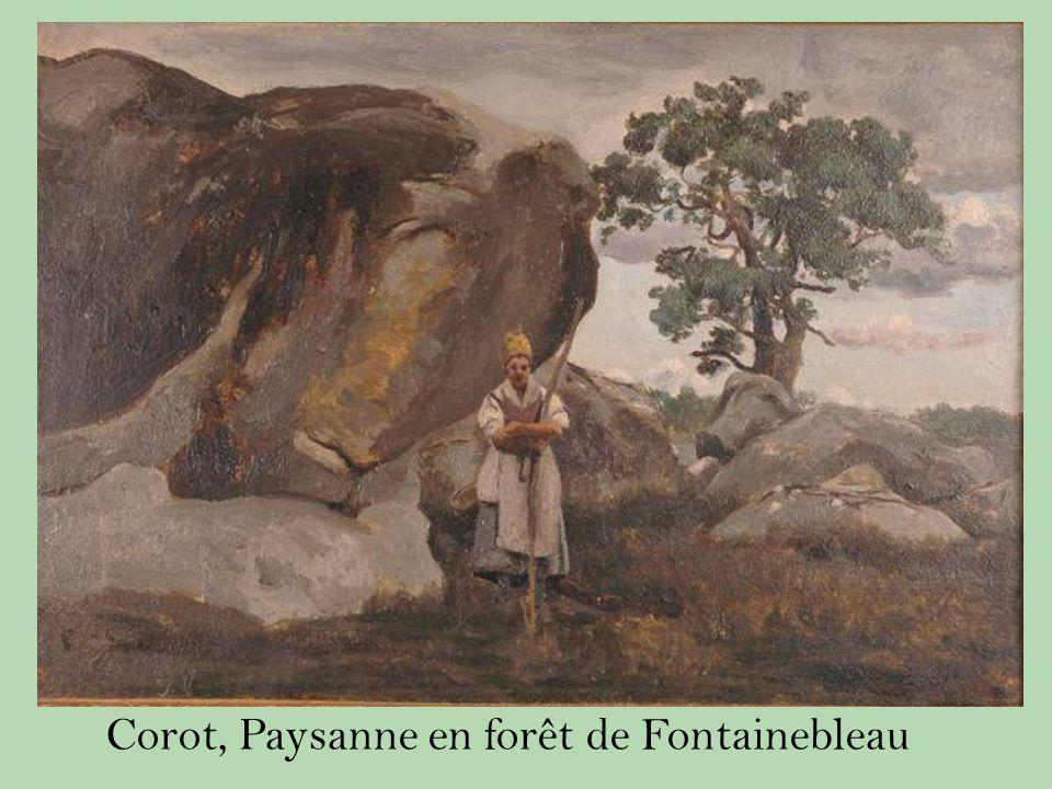 Corot, Paysanne en forêt de Fontainebleau
