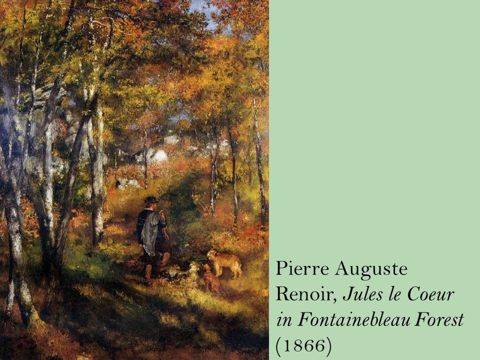 Pierre Auguste Renoir, Jules le Coeur in Fontainebleau Forest (1866)