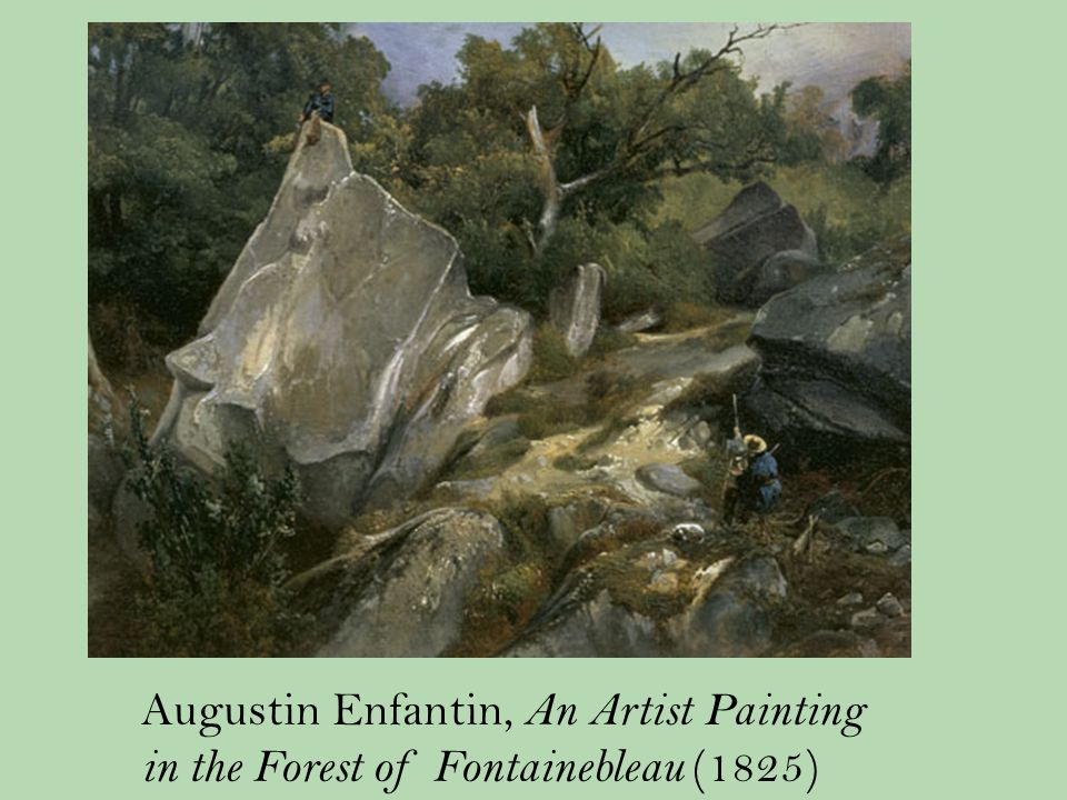 Augustin Enfantin, An Artist Painting in the Forest of Fontainebleau (1825)