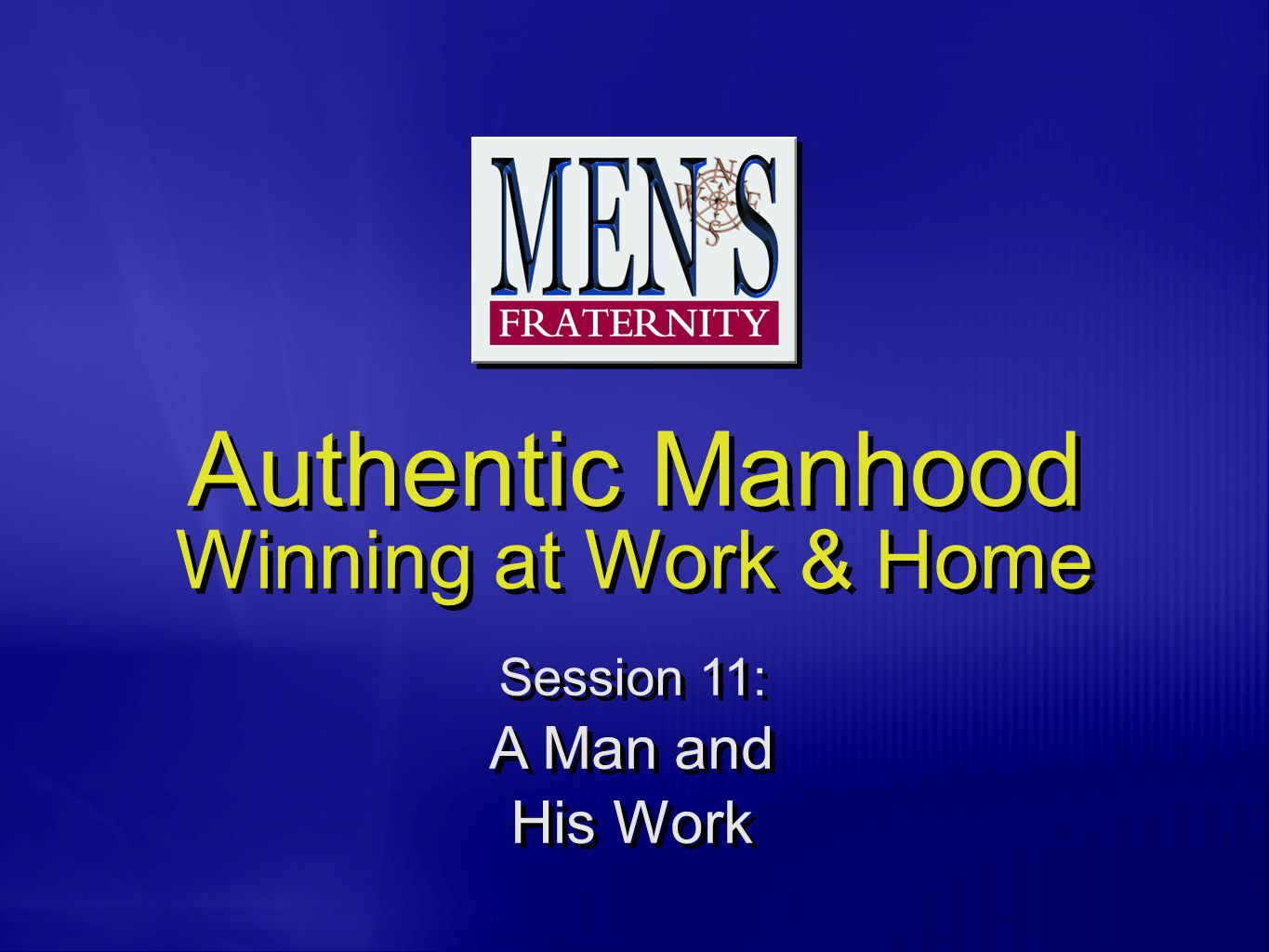 H.Many Christian men do not know how to take Jesus Christ with them to work.