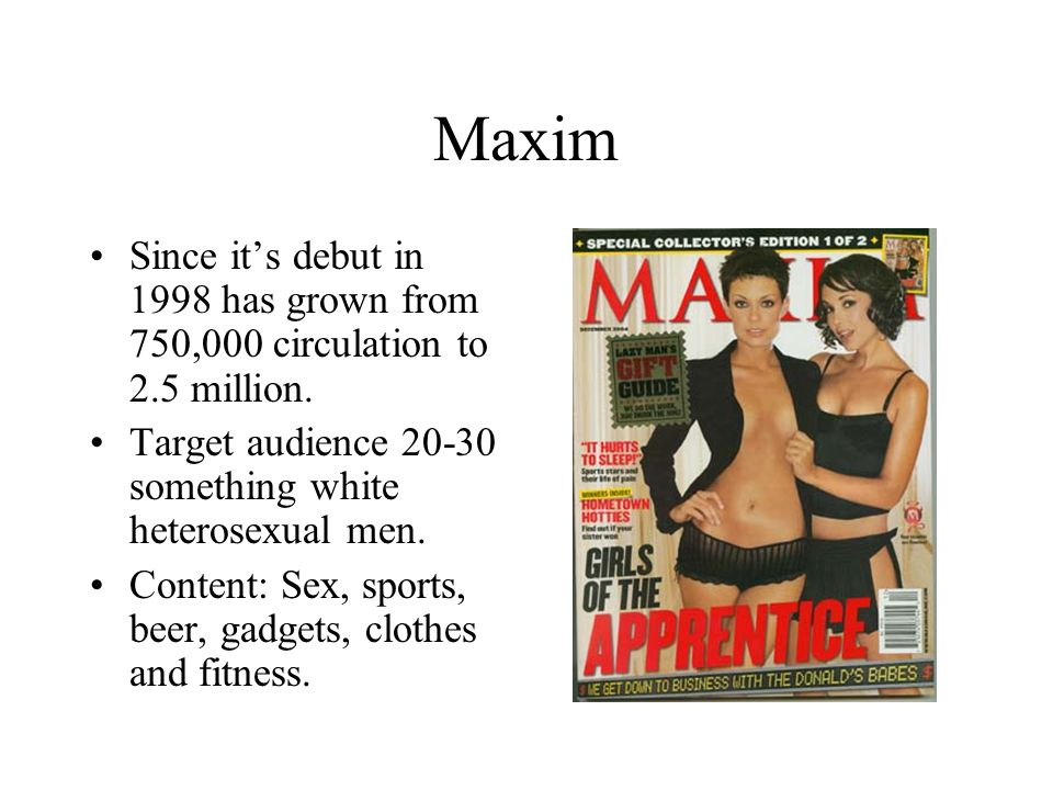 Conclusion –Like womens magazines, mens magazines give plenty of advice on how to behave, what to wear, what to buy, what eat, who to date, etc., suggesting that men are insecurely trying to find their place in the modern world.