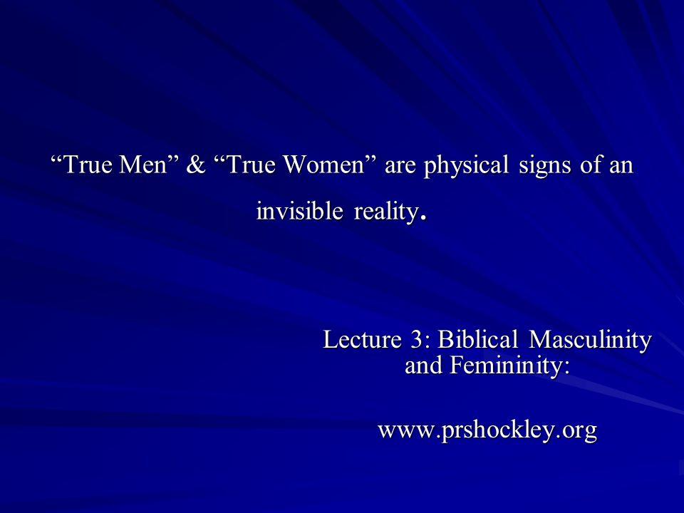 Masculinity/Femininity as it relates to Sexuality: 1.