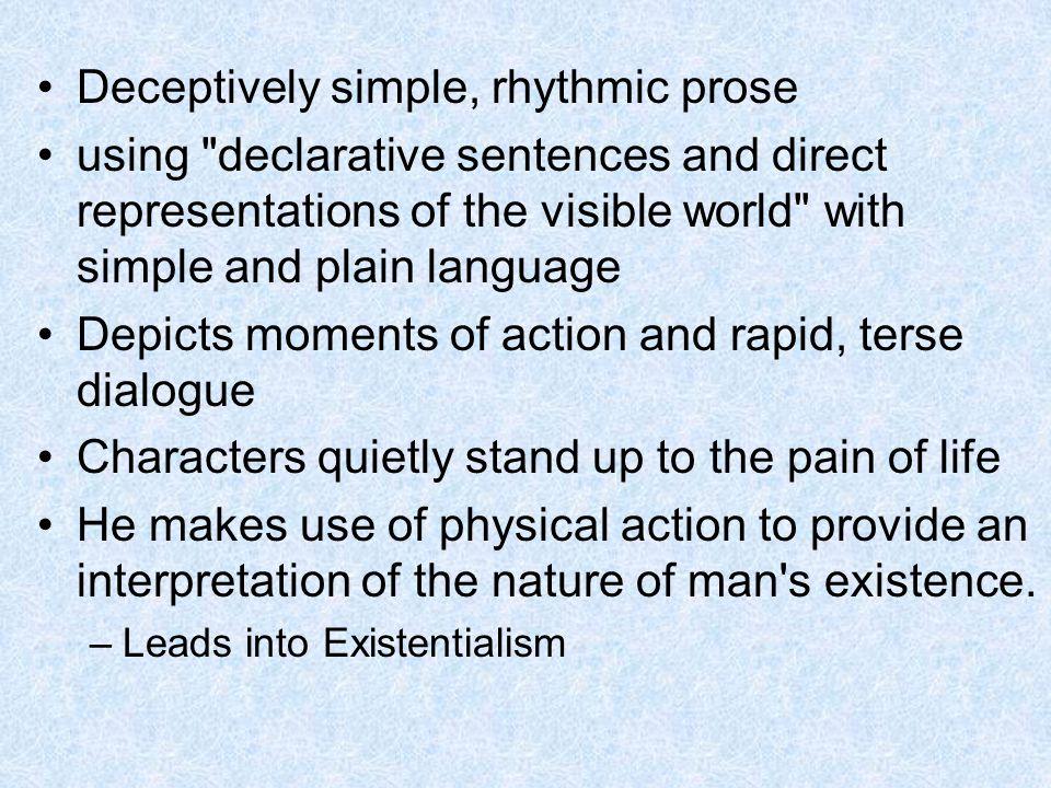 Deceptively simple, rhythmic prose using
