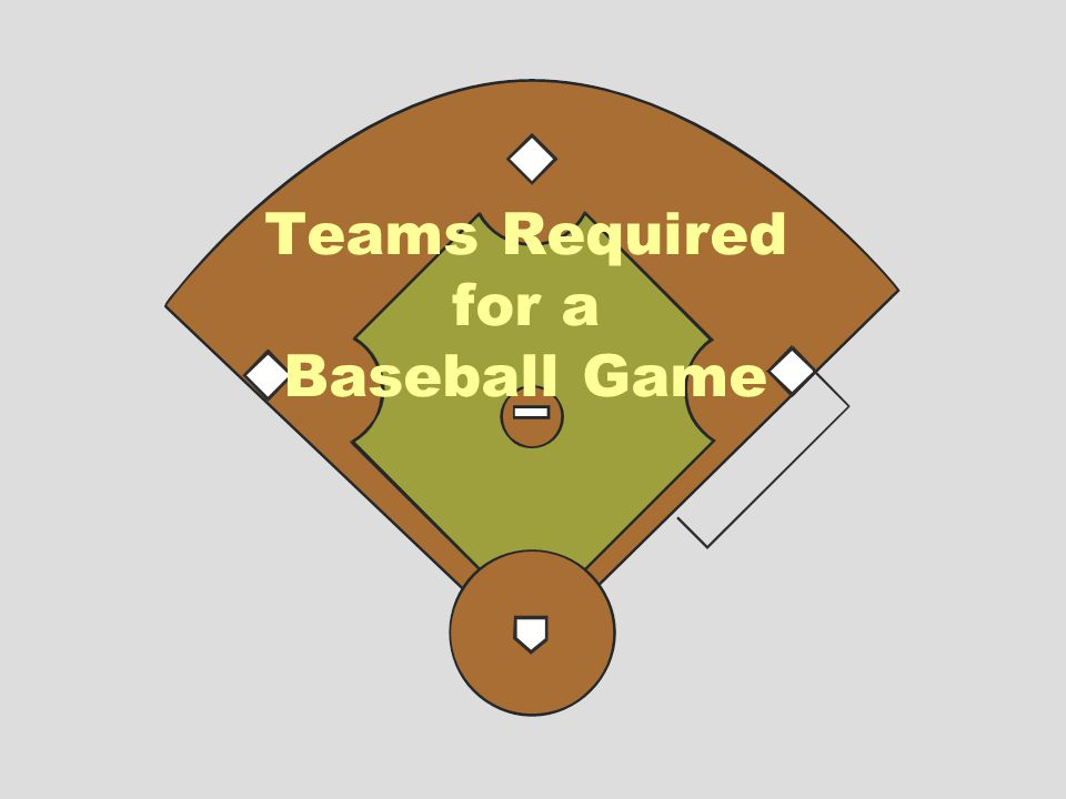 Teams Required for a Baseball Game