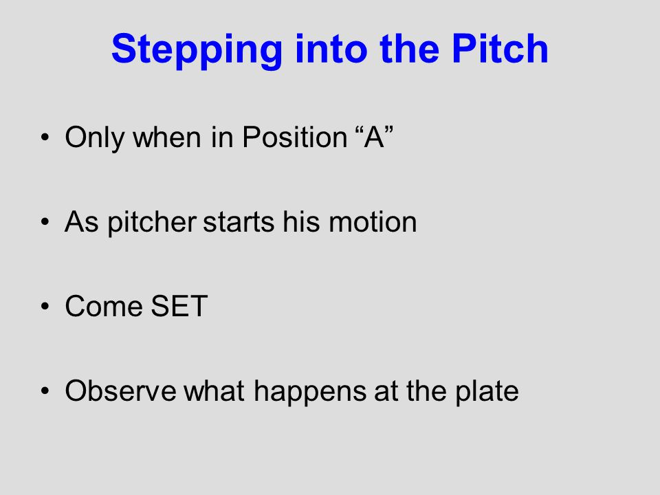 Common Mistakes Too Close Following the ball to the glove Timing Not Reading the players actions Not adjusting to the play