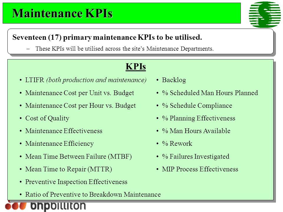 Ratio of Preventive to Breakdown Maintenance Ratio of Preventive Man Hours to Breakdown Man Hours.