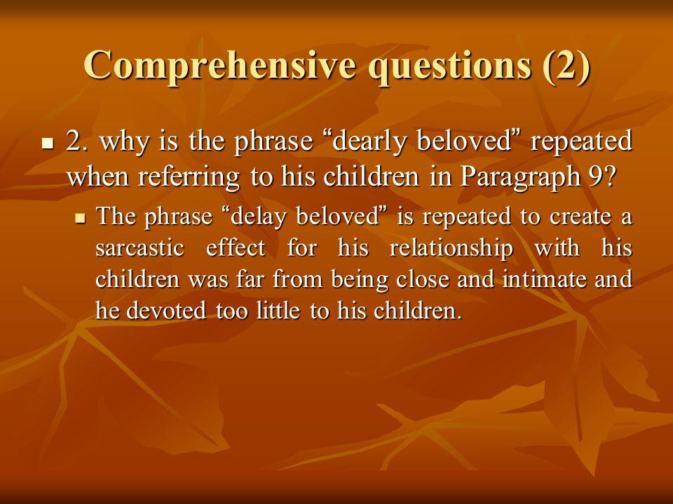 Comprehensive questions (2) 2.